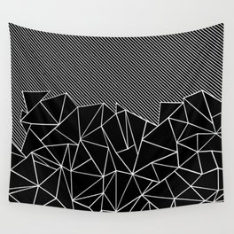Ab Lines 45 Black Wall Tapestry
