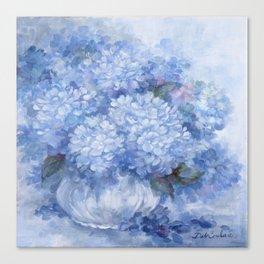 Hydrangeas in Blue Canvas Print