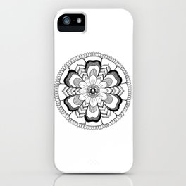 Mandala Floral Ink Art iPhone Case