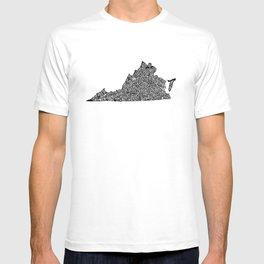 Typographic Virginia T-shirt