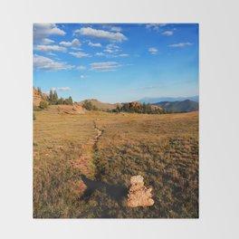 Watercolor Landscape, Lost Creek Wilderness 22, Colorado Throw Blanket