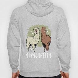 Alpacapella Singing Alpacas Funny Animal Pun  Hoody