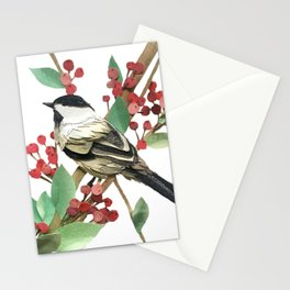 Berry Nice Chickadee Stationery Cards