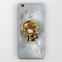 Steampunk Head with Manometer iPhone Skin