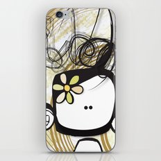 swirl girl iPhone Skin