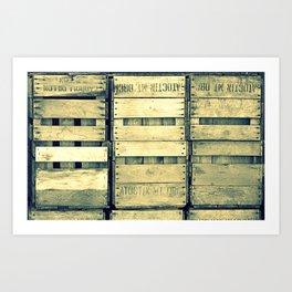 Apple Crate Wooden Texture Art Print