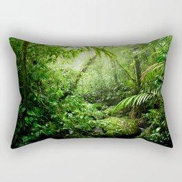 Warm Glow Rainforest Creek Rectangular Pillow