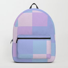 Lilac Squares Backpack