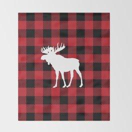 Red Buffalo Plaid Moose Throw Blanket