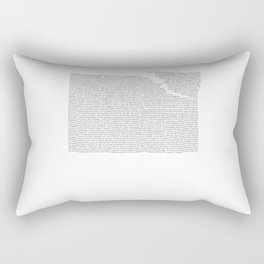 Erosion & Typography 2 Rectangular Pillow