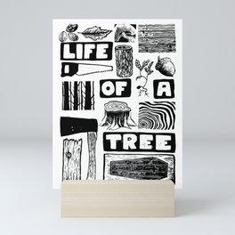 Life of a Tree Lino Print Mini Art Print