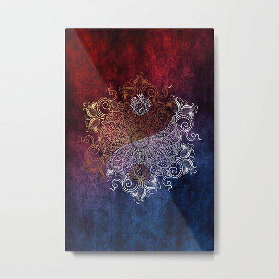 Mandala - Fire & Ice, yang version Metal Print