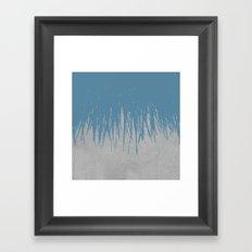 Concrete Fringe Blue Framed Art Print