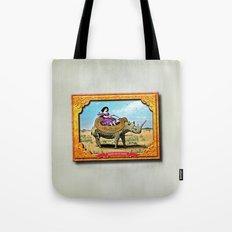 Rhino Rider Tote Bag