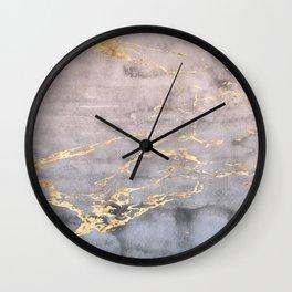 Watercolor Gradient Gold Foil IV Wall Clock