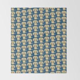 Longhaired Cream Dachshund Throw Blanket