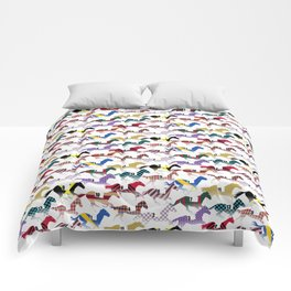Off to the Horse Races Jockey Silk Pattern Comforters