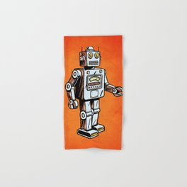 Retro Robot Toy Hand & Bath Towel