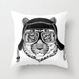 Leopard Speed Rebel Throw Pillow