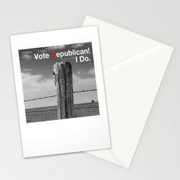 Vote Republican. 2 Stationery Cards