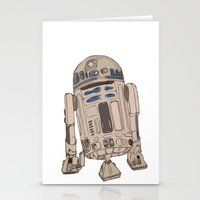 r2d2 Stationery Cards featuring R2D2 by colleencunha