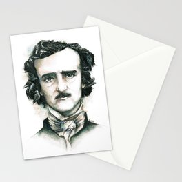 Edgar Allan Poe and Ravens Stationery Cards