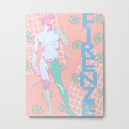 80's Postmodern Florence Travel Poster Metal Print