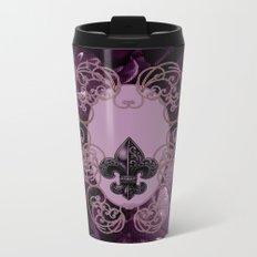 Floral design Metal Travel Mug