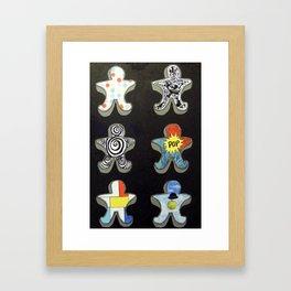 Cookie cutters (post modern) Framed Art Print