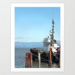 Pilot Boat Bejamin Foss, Columbia River, Astoria, Oregon Art Print
