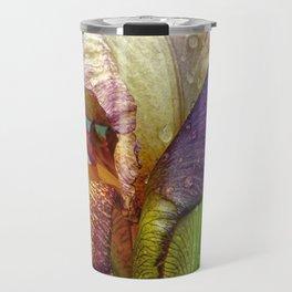 Iris With Raindrops Travel Mug