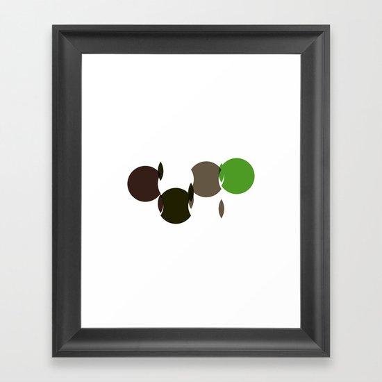 #311 Cuts – Geometry Daily Framed Art Print