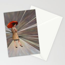 Limessia - beauty with umbrella Stationery Cards