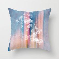 SQUARES DANCING Throw Pillow
