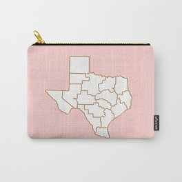 Texas map Carry-All Pouch