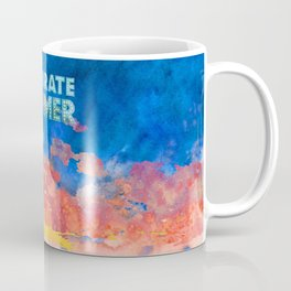 Celebrate Summer Sunrise Scene Watercolor Painting Coffee Mug