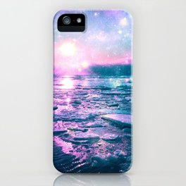Mystic Waters Vibrant Pink Blue Lavender iPhone Case