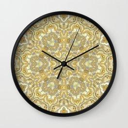 Orange and Yellow Kaleidoscope 1 Wall Clock