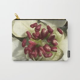 Silver pear blossom pyrus white flower Carry-All Pouch