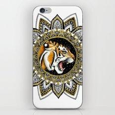 Black and Gold Roaring Tiger Mandala iPhone & iPod Skin