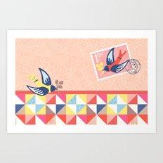 Birdie mac pro sleeve Art Print