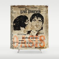 oasis Shower Curtains featuring Oasis by Colo Design