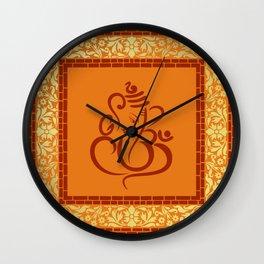 Shree Ganesh Pattern Wall Clock