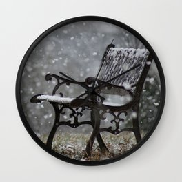 Snowfall in the loneliness Wall Clock
