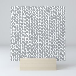 Hand Knit Zoom Grey Mini Art Print