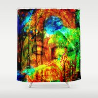 meditation Shower Curtains featuring  Meditation by shiva camille