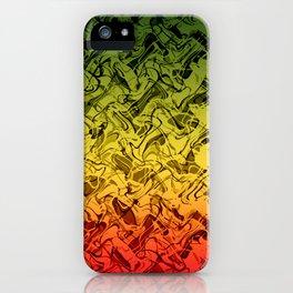 Rasta Fire iPhone Case