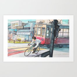 Bicycle Boy 05 Art Print
