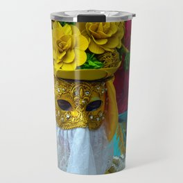 Carnevale of Venice Italy - Masquerade Mask Travel Mug