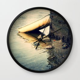 Nautical Boat at Low Tide Wall Clock